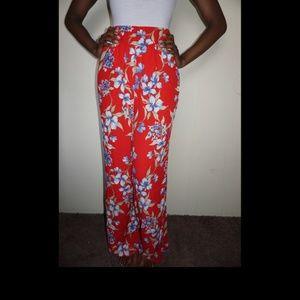 Fashion Nova Floral Print Pants NWT